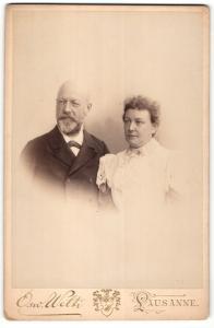 Fotografie Osw. Welti, Lausanne, Fotograf Oswald Welti mit seiner Frau