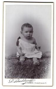 Fotografie D. Schuchhardt, Giessen, Portrait Säugling in Leibchen