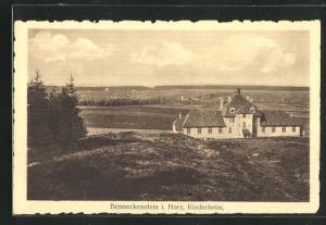 AK Benneckenstein / Harz, Kinderheim aus der Vogelschau