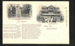 AK Thale, Gasthaus Dambachshaus, Pfeil`s Denkmal