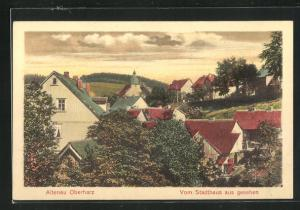 AK Altenau / Oberharz, Teilansicht vom Stadthaus gesehen