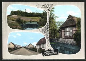 AK Bookholzberg / Oldb., Strassenpartie, Ortsansicht