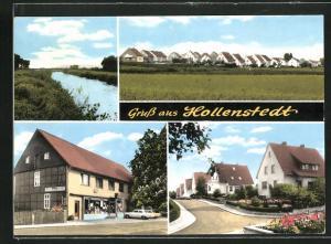 AK Hollenstedt, Ortsansicht, Strassenpartie, Gasthaus