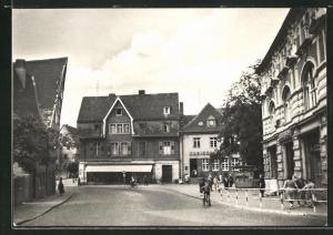 AK Stassfurt, Blick in die Karl-Marx-Strasse