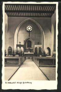 AK Heidelberg, St. Albertus / St. Albert  - Kirche, Innenansicht