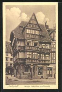 AK Halberstadt, Stelzfass (altes Haus am Holzmarkt)
