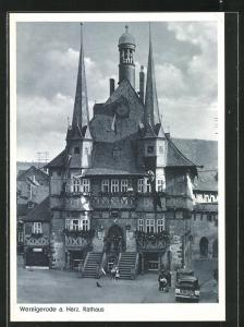 AK Wernigerode a. Harz, Ansicht vom Rathaus