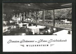 AK Wildenstein, Hotel-Pension Brümmer, Haus Friedrichsruh
