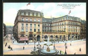 AK Frankfurt, Grand Hotel Frankfurter-Hof am Kaiserplatz