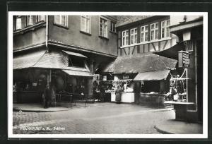 AK Alt-Frankfurt, Schirne, Ortspartie mit Geschäften