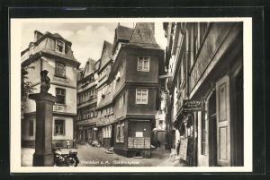 AK Alt-Frankfurt, Blick in die Goldhutgasse