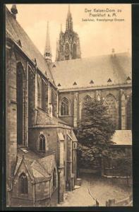 AK Alt-Frankfurt a. M., Der Kaiser-Dom, Sakristei, Kreuzigungs-Gruppe
