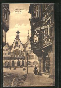AK Alt-Frankfurt a. M., Römerblick vom alten Markt