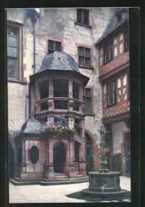 AK Alt-Frankfurt a. M. Wendeltreppe im Römerhof