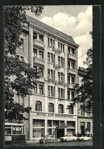 AK Hamburg-St.Georg, Hotel zum Kronprinzen, Kirchenallee 46