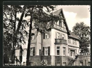 AK Berlin-Grunewald, Hotel Belvedere, Seeberg 4