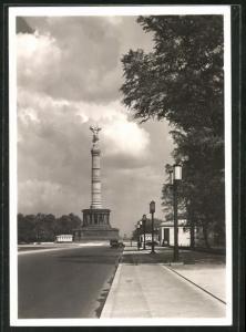 AK Berlin-Tiergarten, Ost-West-Achse mit Blick zur Siegessäule