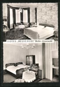 AK Berlin-Grunewald, Hotel Belvedere, Seebergsteig 4