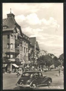 AK Berlin-Niederschöneweide, Blick in die Schellerstrasse