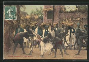AK Porte Maillot, Village Senegalais, Les Lutteurs, Afrikanische Ringer
