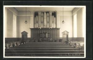 AK Fairfield, Moravian Church, Orgel in der Kirche