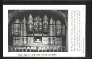 AK Gainsboro, Robinson Memorial Church, Organ