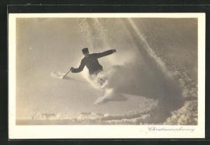 AK Ski-Fahrer, Christianiaschwung