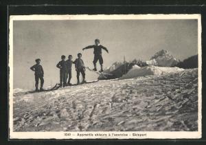 AK Apprentis skieurs á l'exercice, Skisport