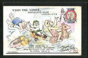 AK Comic, Teddy Tail League Northcliffe House London
