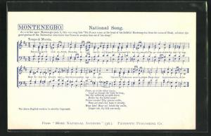 AK Montenegro, Lied: National Song