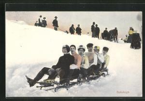 AK Bobsleigh, Schlittenfahrt im Winter