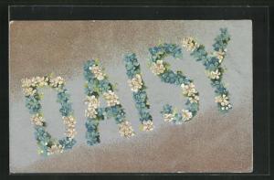 AK Name Daisy aus Blumen, Namenstag
