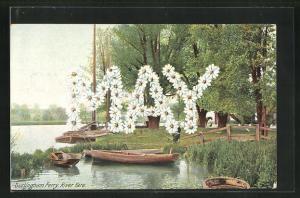 AK Surlingham, Ferry, River Yare, Name May aus Blumen, Namenstag