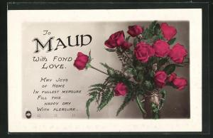 AK To Maud with fond Love, Namenstag