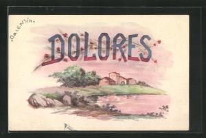 AK Dolores, Namenstag, Landschaftsbild