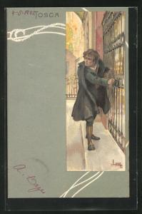 Künstler-AK Leopoldo Metlicovitz: Oper Tosca