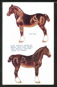 AK Pferd zum Ausschneiden und Basteln