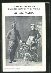 AK Expedition, The Man with the Iron Mask, Walking round the World, Kinderwagen
