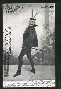 AK Faust, Mefistofele mit teuflischem Lächeln