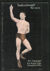 AK Ringer, W. L. Carquest, Champion Lifter, in Leoparden Hose