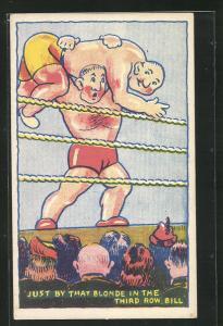 AK Ringer, Männer beim Ringkampf, Just by that Blonde in the Third Row, Bill