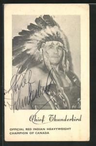 AK Ringer, Indianer, Chief Thunderbird, Official Red Indian Heavyweight Champion of Canada