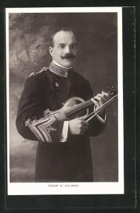 AK Musiker Signor G. Calamani mit Geige