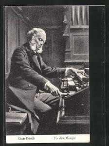AK Musiker Cesar Franck an der Orgel