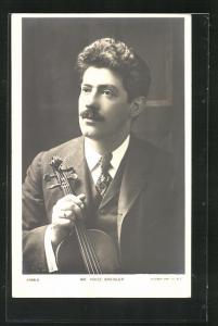 AK Musiker Mr. Fritz Kreisler mit Geige
