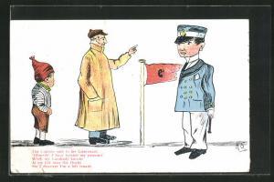 AK Limerick, The Captain said to his Lieutenant..., Der Kapitän spricht zum Leutnant, Scherz