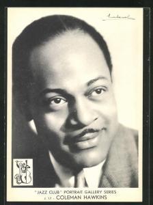 AK Portrait Jazz-Musiker Coleman Hawkins