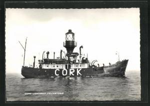 AK Felixstowe, Feuerschiff Cork auf hoher See