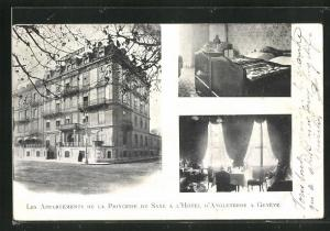AK Geneve, Les Appartements de la Princesse de Saxe a l`Hotel d`Angleterre
