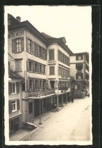 AK Appenzell, Strassenpartie mit Hotel Hecht